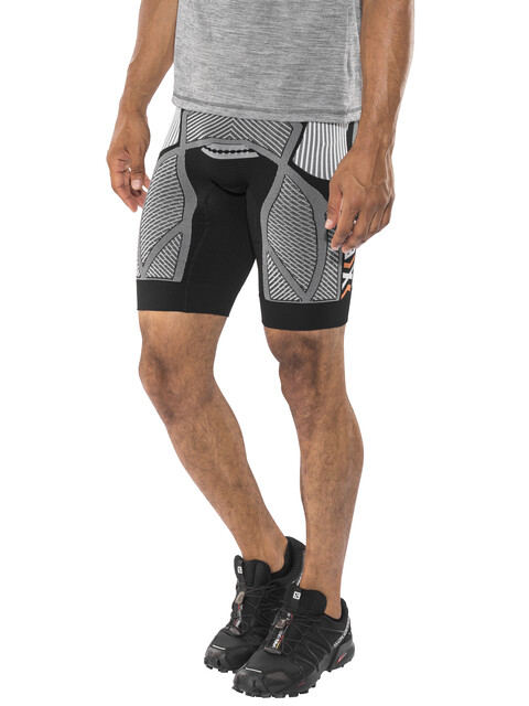 X-Bionic The Trick Running Pants Short Men Black/White